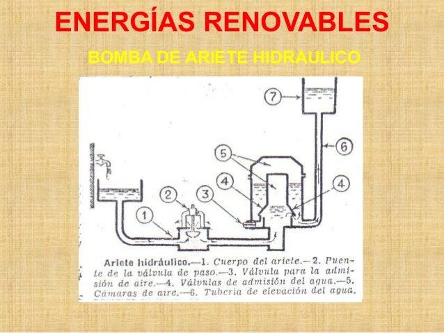 ENERGÍAS RENOVABLES BOMBA DE ARIETE HIDRAULICO