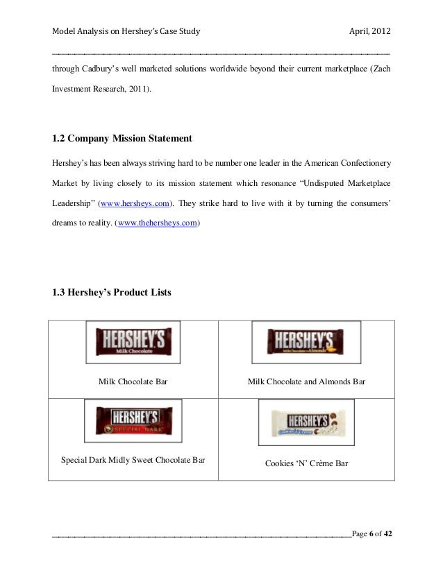 competitor analysis hershey s Swot analysis of hershey adam november 17,  • hershey has to face tough competition from rivals like mars, nestle and cadbury • the declining health conditions of people in usa especially with rising diabetes in people, the demand of hershey products decreases.