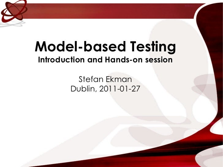 SoftTest Ireland: Model Based Testing - January 27th 2011