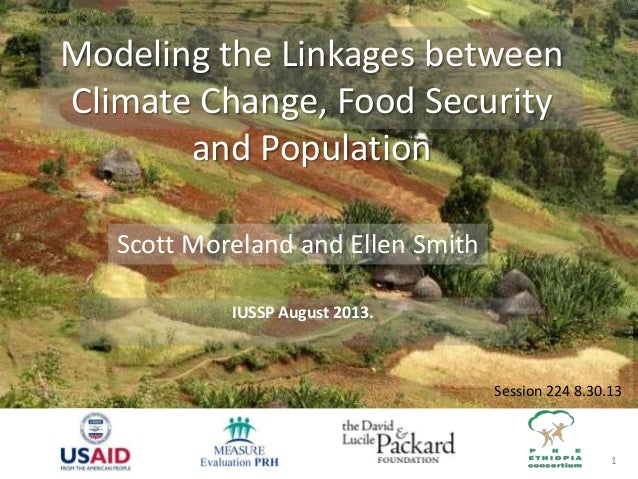 PhotobyWFP/MarioDiBari 1 Modeling the Linkages between Climate Change, Food Security and Population IUSSP August 2013. Sco...