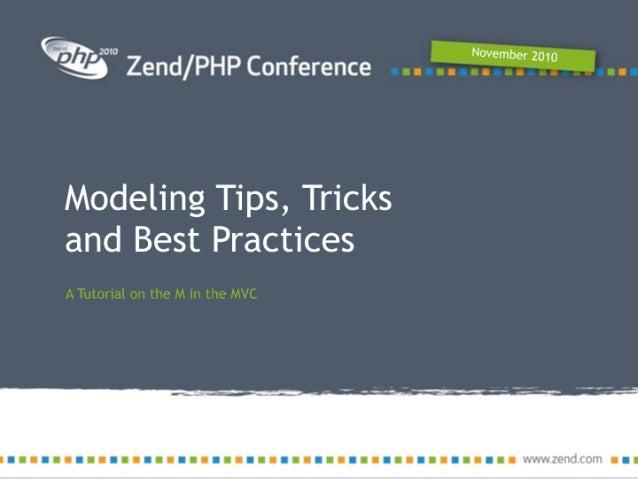 Modeling best practices