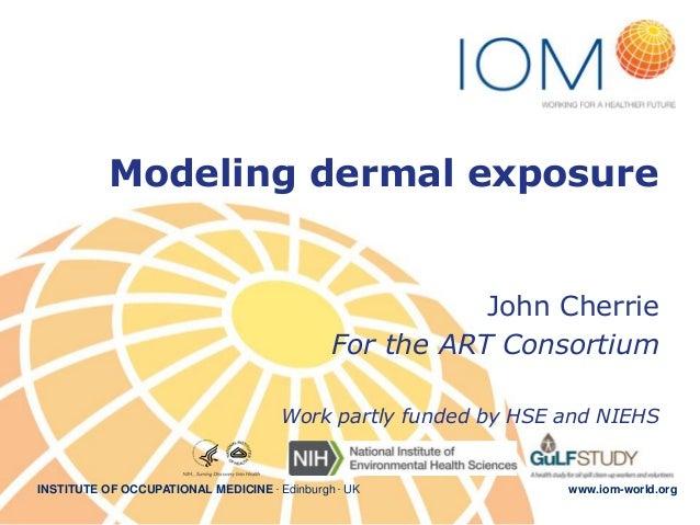 Modeling dermal exposure - OEESC keynote talk