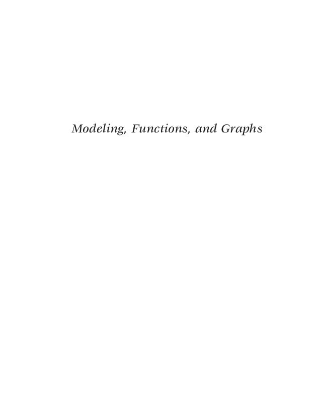 Modeling functions and graphs algebra for college students