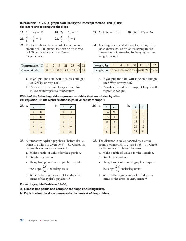 Course 3 Chapter 4 Functions Lesson 1 Homework Practice Lines - image ...