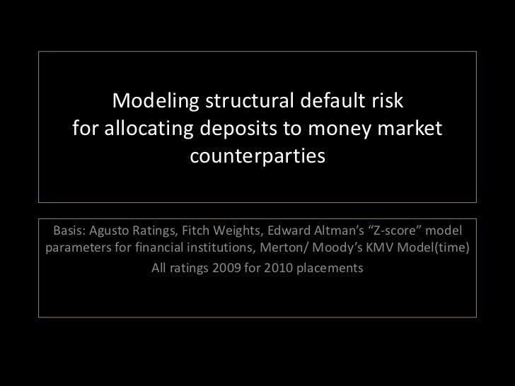 Modeling Structural Default Risk