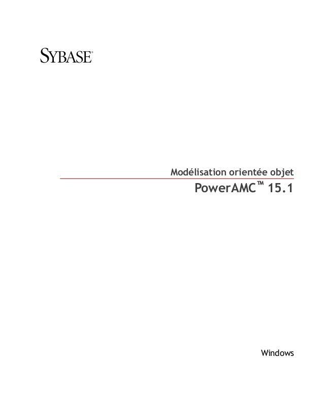 Modélisation orientée objet     PowerAMC™ 15.1                   Windows