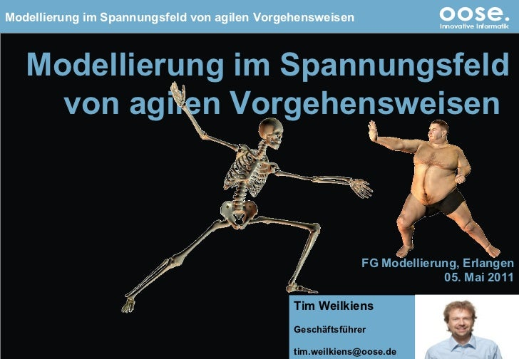 © by oose GmbH Modellierung im Spannungsfeld von agilen Vorgehensweisen  FG Modellierung, Erlangen 05. Mai 2011 Tim Weilki...