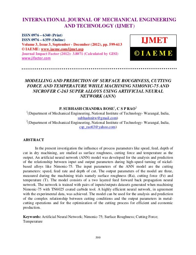 INTERNATIONALMechanical Engineering 3, Issue 3, Sep- Dec (2012)ENGINEERING   International Journal of                     ...