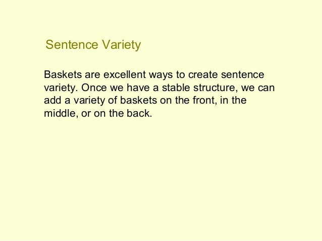 What are the different types of sentence variety?
