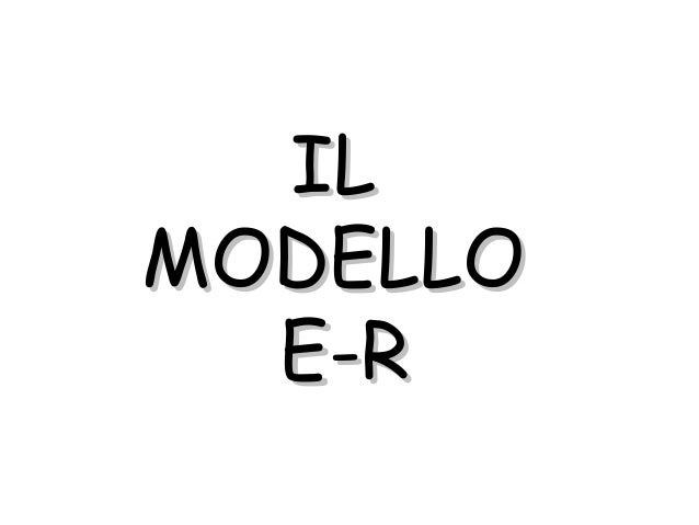 MODELLO ER