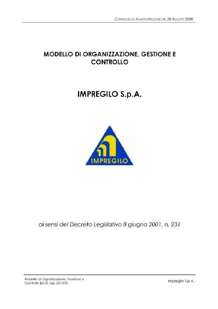 Modello Organizzazione, Gestione e Controllo