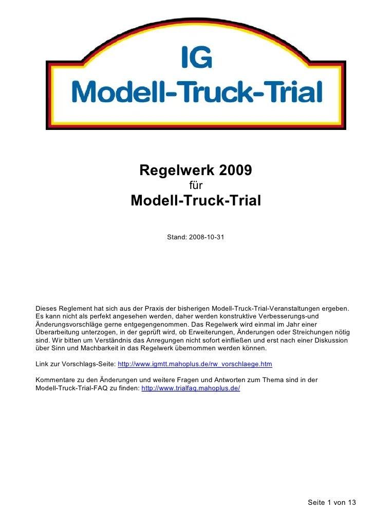 Regelwerk 2009                                                  für                               Modell-Truck-Trial      ...
