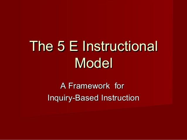 the 5e model of instruction