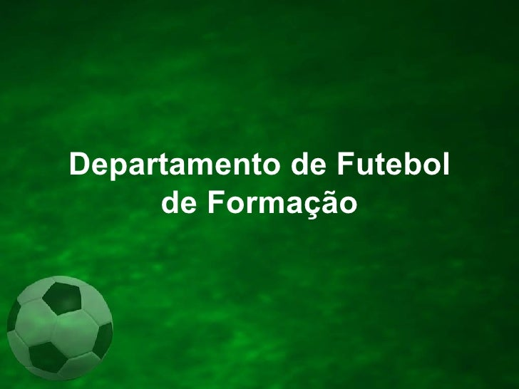 Departamento de Futebol de Formação