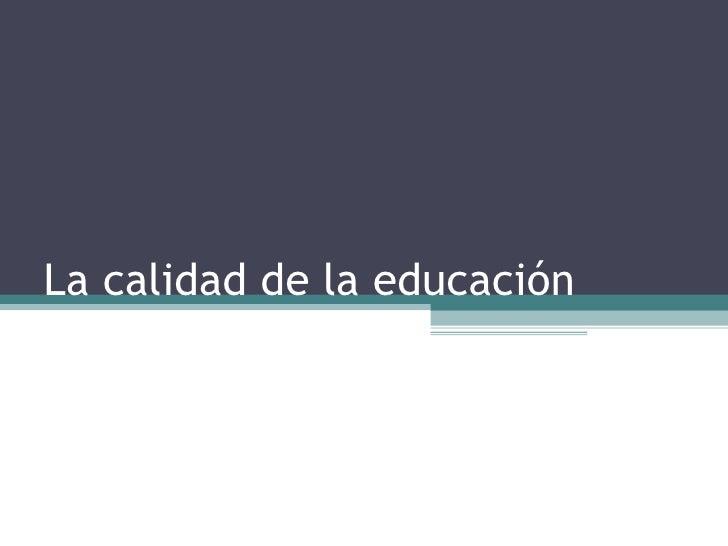 Modelo de calidad educativa de la coneau