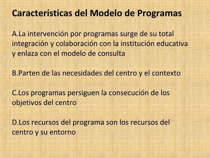 Modelo de programas for La accion educativa en el exterior