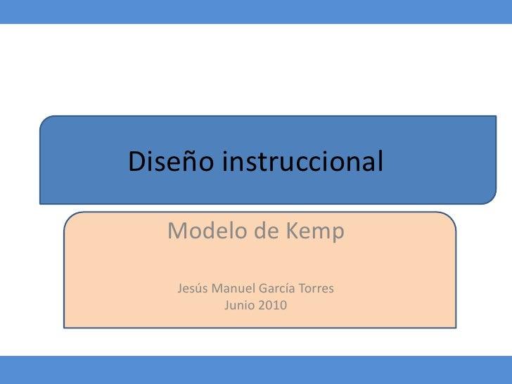 Diseño instruccional<br />Modelo de Kemp<br />Jesús Manuel García Torres<br />Junio 2010 <br />