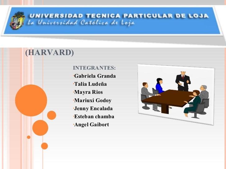 MODELO TRADICIONAL-LINEAL (HARVARD) <ul><li>INTEGRANTES: </li></ul><ul><li>Gabriela Granda  </li></ul><ul><li>Talia Ludeña...