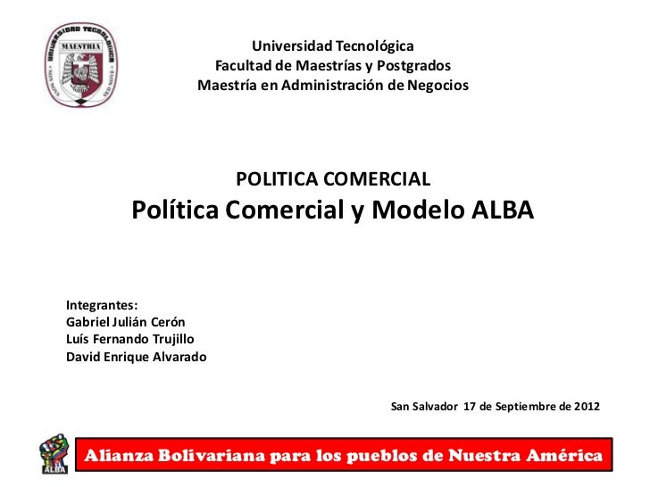 Modelo alba (UTEC, Septiembre 2012)