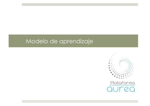 Modelo aprendizaje plataforma aurea