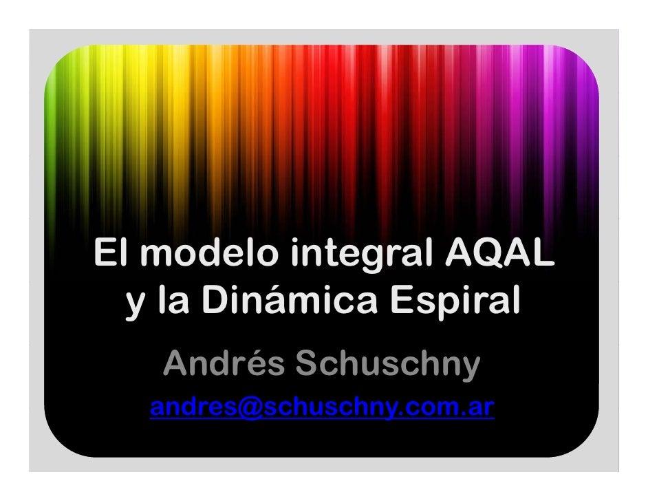 El modelo integral AQAL  y la Dinámica Espiral   Andrés Schuschny  andres@schuschny.com.ar  andres@schuschny com ar