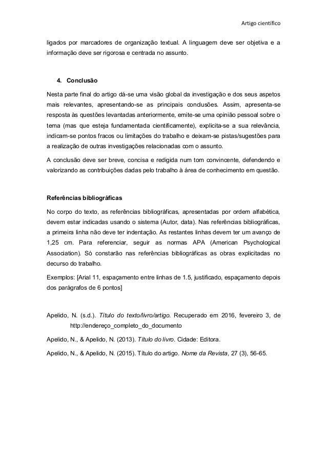 Exemplo de resenha de artigo cientifico