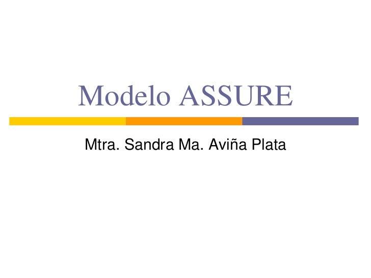 Modelo ASSURE<br />Mtra. Sandra Ma. Aviña Plata<br />