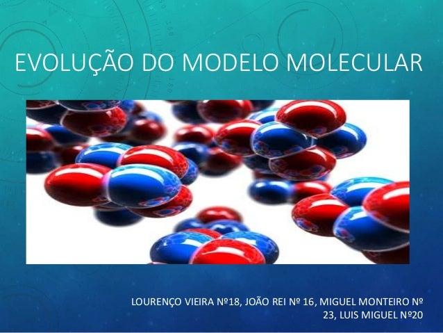 EVOLUÇÃO DO MODELO MOLECULAR LOURENÇO VIEIRA Nº18, JOÃO REI Nº 16, MIGUEL MONTEIRO Nº 23, LUIS MIGUEL Nº20