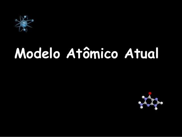 Modelo Atômico AtualModelo Atômico Atual