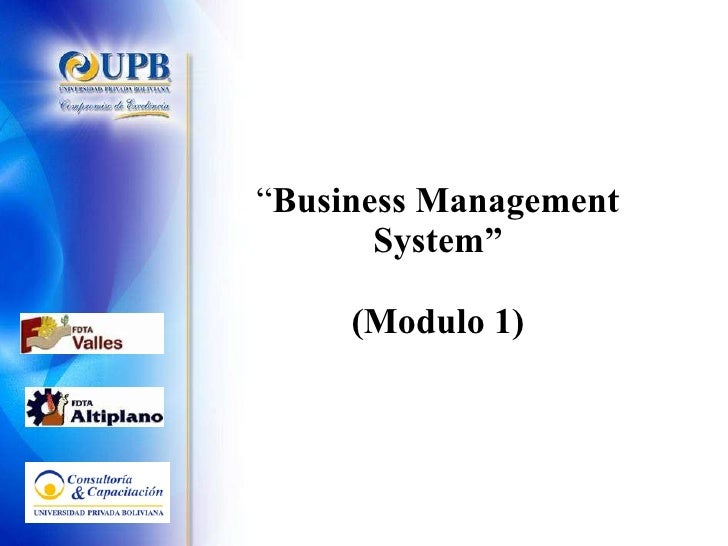 """"""" Business Management System"""" (Modulo 1)"""