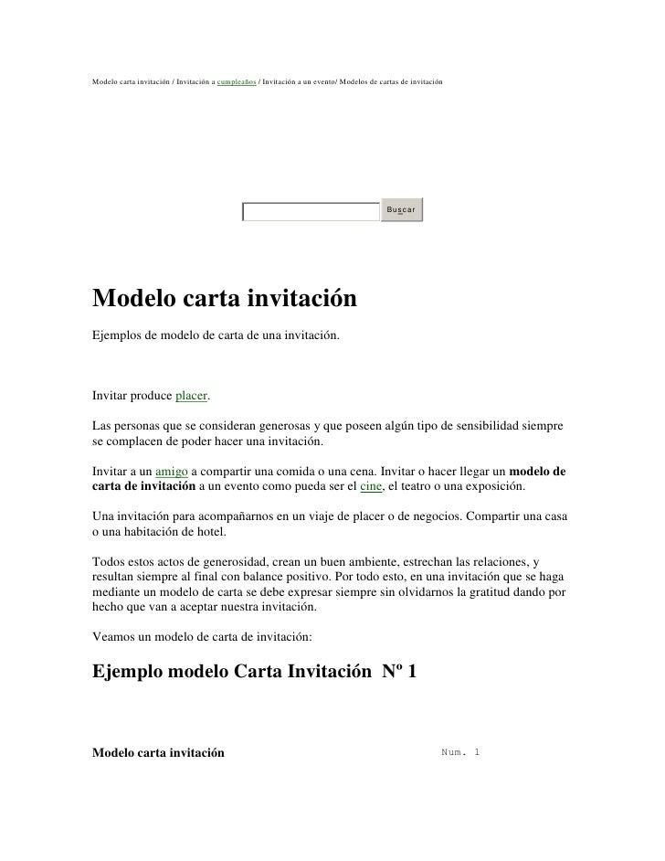 Modelo carta invitación / Invitación a cumpleaños / Invitación a un evento/ Modelos de cartas de invitación               ...