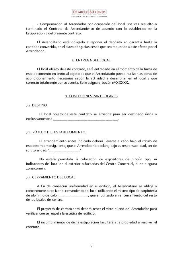Contrato de alquiler 2016 argentina anexo al contrato de for Arrendamiento de bienes muebles ejemplos
