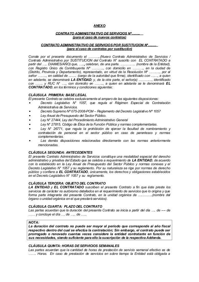 Modelo contrato cas for Modelo contrato laboral