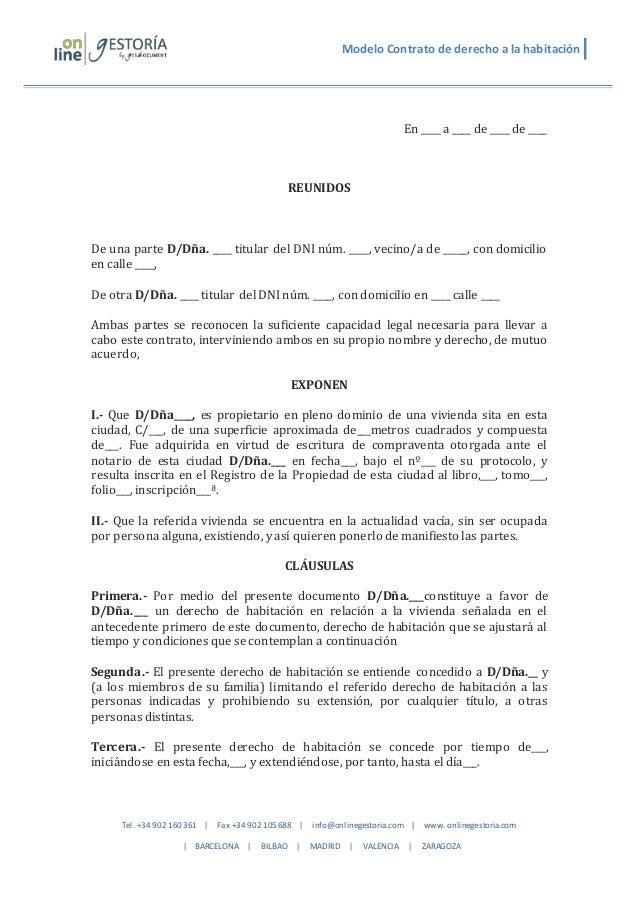 Contrato De Arrendamiento De Vivienda 2015