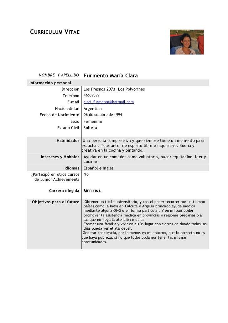 modelo de curriculum vitae medico argentina