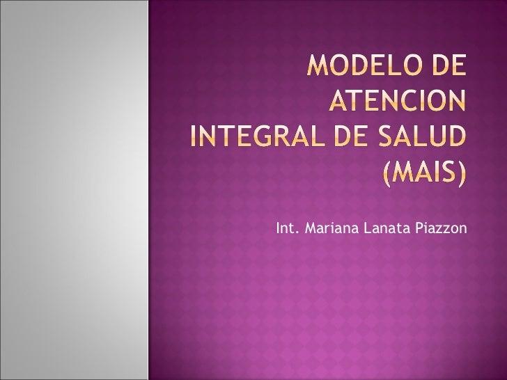 Modelo De Atencion Integral De Salud (Mais) Marco Conceptual Y Adulto Mayor Compatible