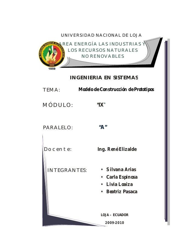UNIVERSIDAD NACIONAL DE LOJA      AREA ENERGÍA LAS INDUSTRIAS Y        LOS RECURSOS NATURALES             NO RENOVABLES   ...