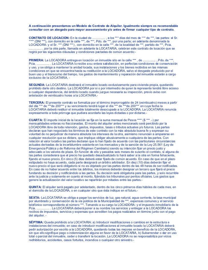 Modelo de contrato de alquiler for Modelo contrato empleada de hogar 2016