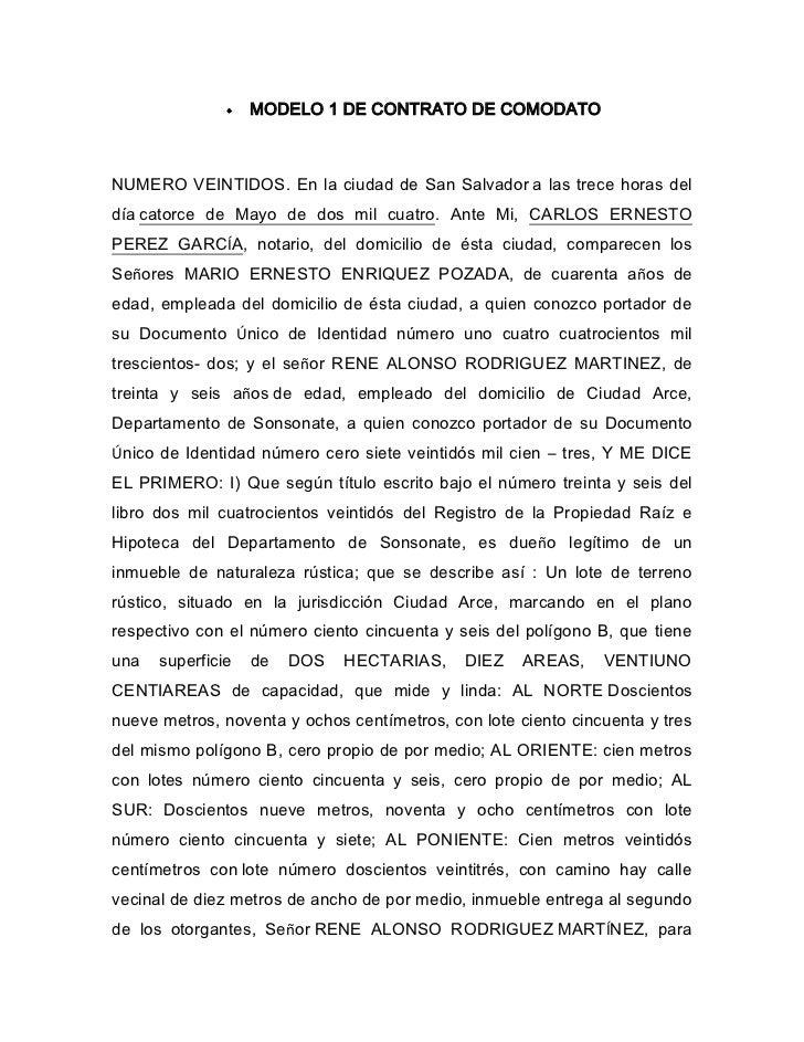 Modelo de contrato de comodato 2
