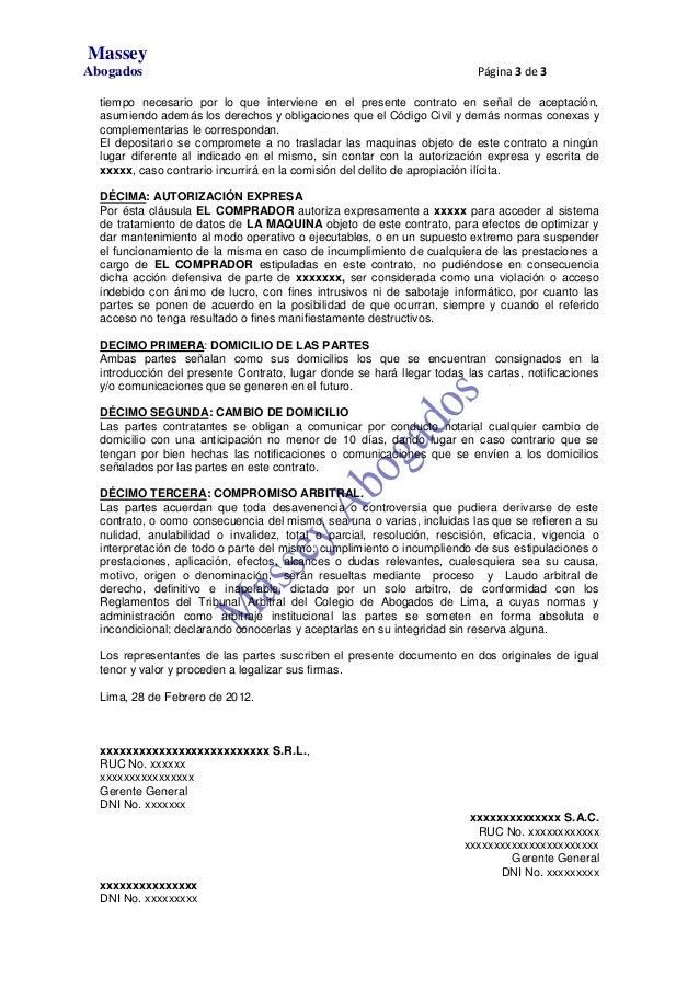Modelo De Contrato De Compra Venta Con Pacto De Reserva De