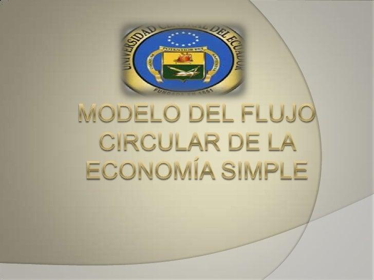 Modelo del flujo circular de la economía simple