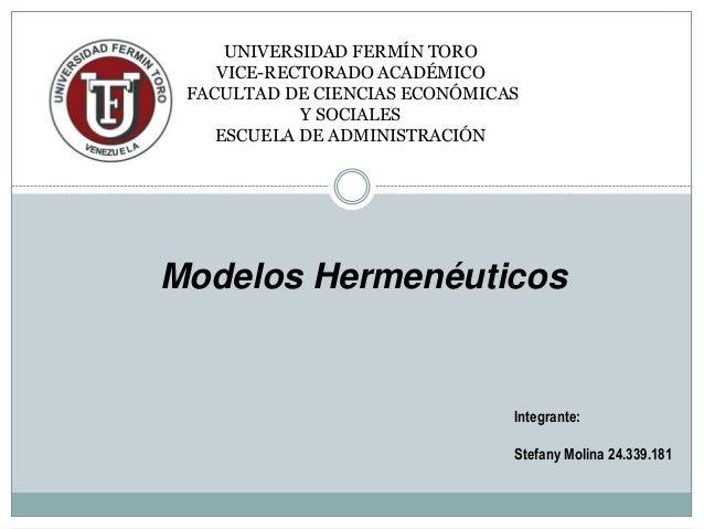UNIVERSIDAD FERMÍN TORO VICE-RECTORADO ACADÉMICO FACULTAD DE CIENCIAS ECONÓMICAS Y SOCIALES ESCUELA DE ADMINISTRACIÓN Inte...