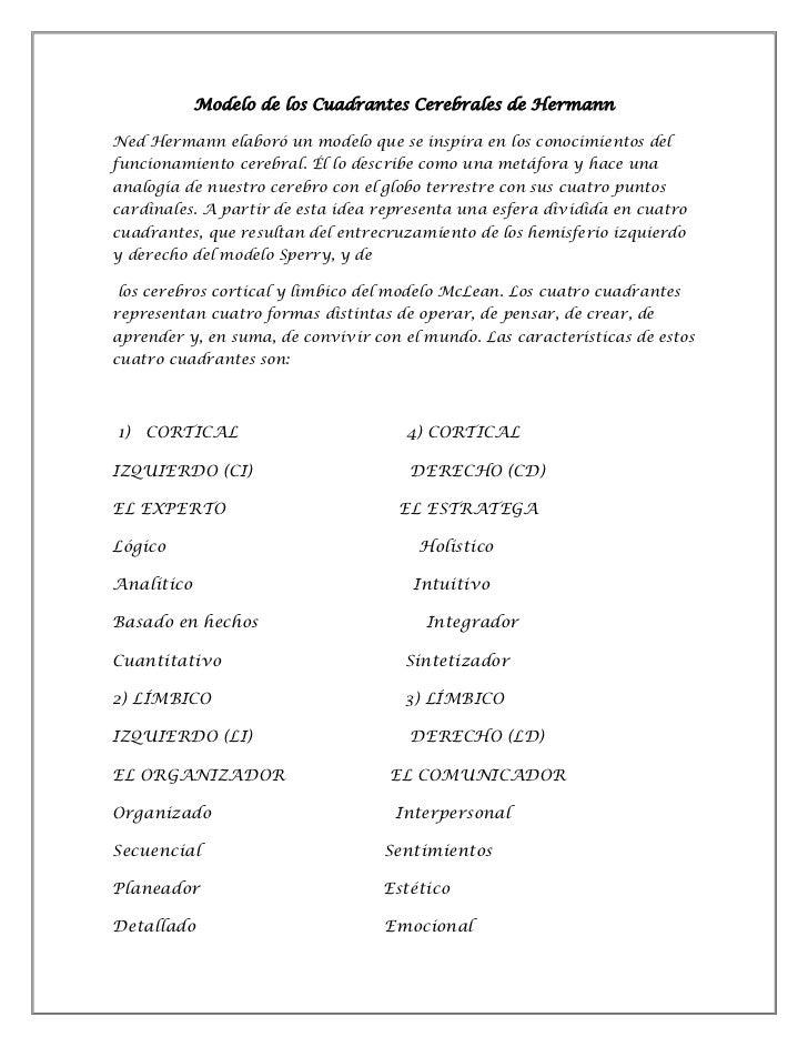 Modelo de los cuadrantes cerebrales de herrmann doc.