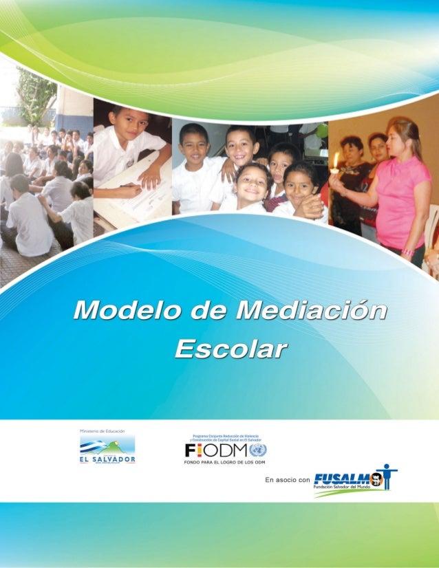 2013 Modelo de Mediación Escolar