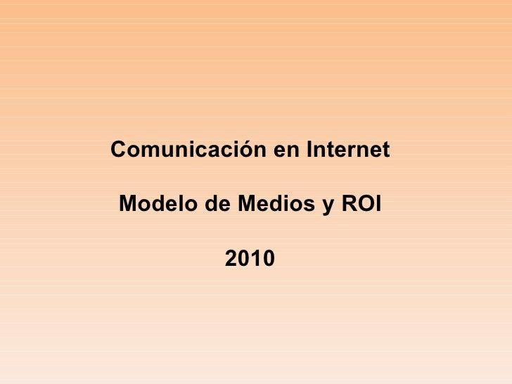 Modelo de medios y roi 2010