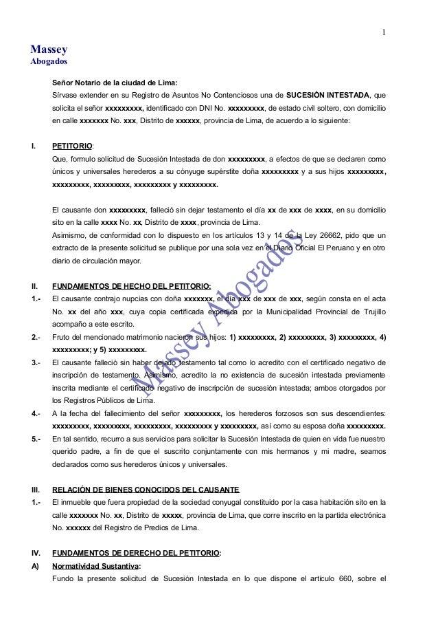 Modelo De Demanda De Sucesion Intestada Ante Juzgado.html ...