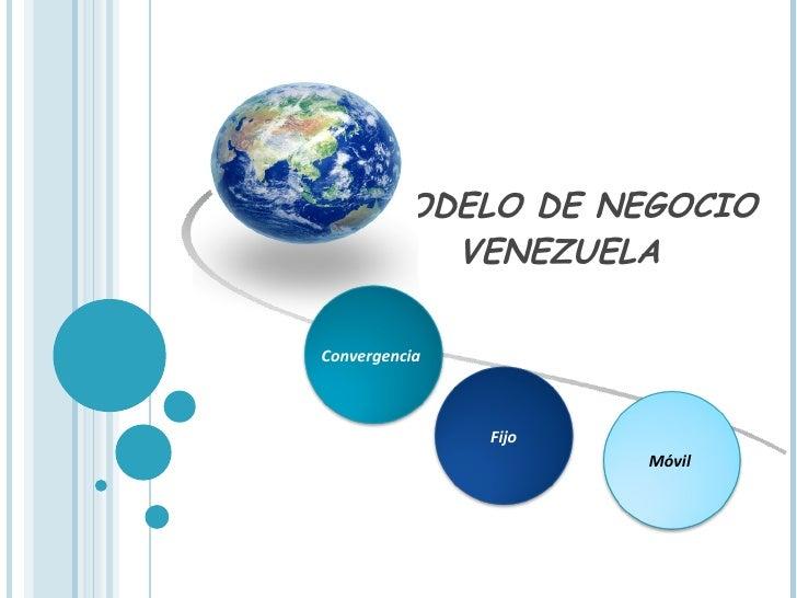 MODELO DE NEGOCIO VENEZUELA  Convergencia   Fijo Móvil