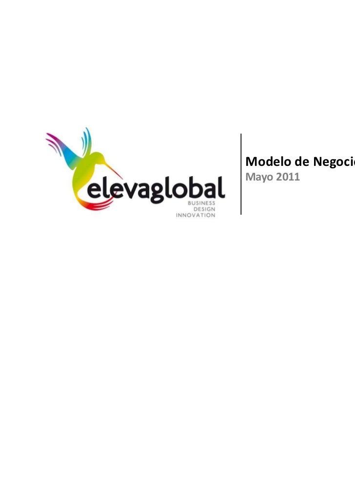 Modelo de NegocioMayo 2011                    1