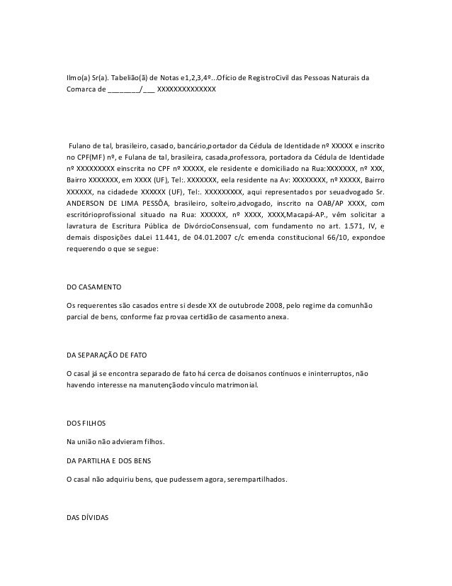 Ilmo(a) Sr(a). Tabelião(ã) de Notas e1,2,3,4º...Ofício de RegistroCivil das Pessoas Naturais da  Comarca de ________/___ X...