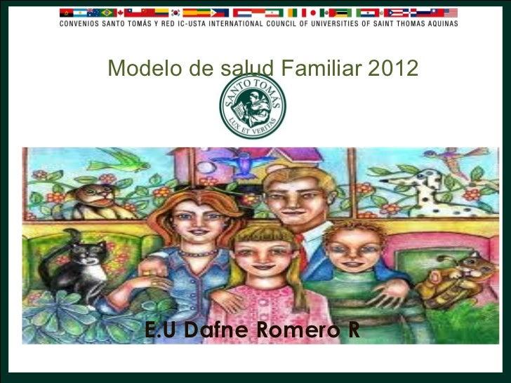 Modelo de salud Familiar 2012   E.U Dafne Romero R.